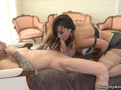 Comely Dusky Milf Lisa Ann Visits Wonderful Blowjob Porn